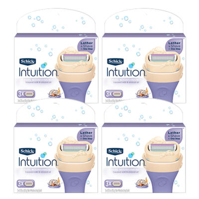 [ Schick ] Intuit Nourishing Women Razor Blades 12mouth (3mouthX4pieces) NEW